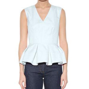 Balenciaga Sleeveless Peplum Top Blue Size 38
